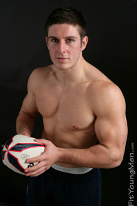 Fit Young Men Model Zak Kennedy Naked Rugby Player