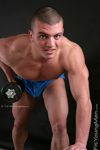 Fit Young Men Model James Craigs Naked Body Builder