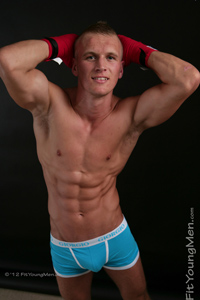 Fit Young Men Model Jay Maddison Naked Boxer
