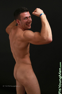 Fit Young Men Model Pete Tomley Naked Rugby Player