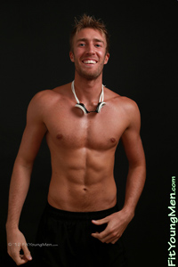 Fit Young Men Model Josh Hathaway Naked Swimmer