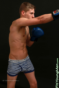 Fit Young Men Model Ralph Wright Naked Boxer