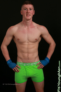 Fit Young Men Model Ed Douglas Naked Muay Thai
