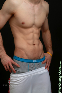 Fit Young Men Model Jordan Fawkes Naked Hockey Player