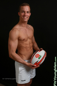 Fit Young Men Model Eliot Jones Naked Rugby Player