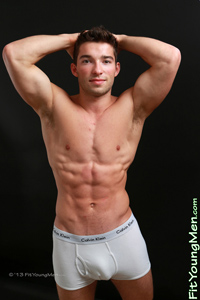 Fit Young Men Model Max Brownlee Naked Personal Trainer