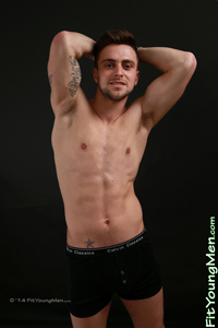 Fit Young Men Model Jon Caspian Naked Motor Cross