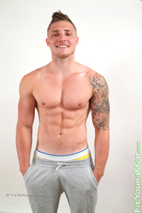 Fit Young Men Model Alex Stubbs Naked Personal Trainer