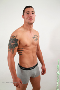 Fit Young Men Model Ben Vickers Naked Mixed Martial Arts