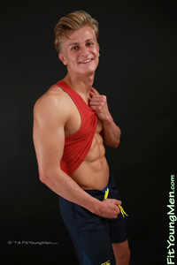 Fit Young Men Model Josh Hesketh Naked Personal Trainer