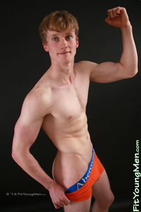 Fit Young Men Model Oscar Whitelaw Naked Badminton Player