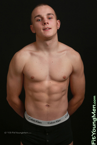 Fit Young Men Model Charlie Jonas Naked Boxer