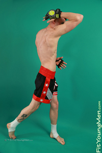 Fit Young Men Model Jonas Webber Naked Mixed Martial Arts