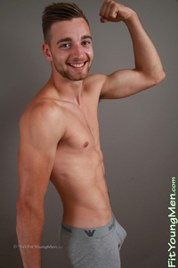 Fit Young Men Model Noah Milton Naked Footballer