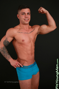 Fit Young Men Model Cian Byrne Naked Body Builder