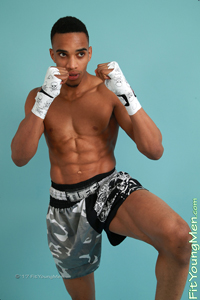 Fit Young Men Model Glen Jackson Naked Muay Thai