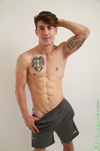 Fit Young Men Model Paolo Borda Naked Parkour