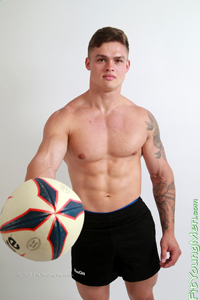 Fit Young Men Model Jamie Black Naked Personal Trainer