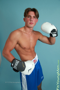 Fit Young Men Model Alfie North Naked Boxer