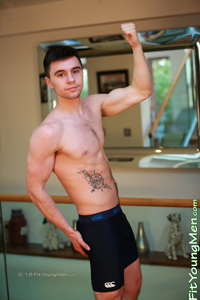 Fit Young Men Model Ben Davies Naked Personal Trainer