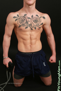 Fit Young Men Model Craig Bronson Naked Personal Trainer