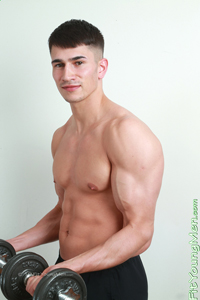 Fit Young Men Model Hector Malik Naked Personal Trainer