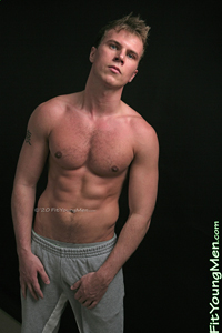 Fit Young Men Model Hayden Harris Naked Personal Trainer