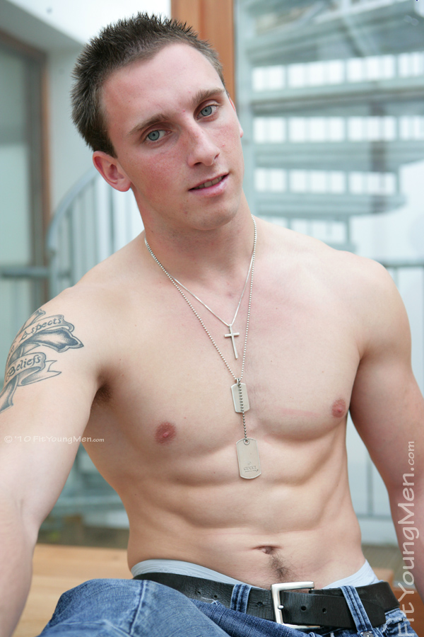 Fit Young Men Model TJ Naked American Footballer