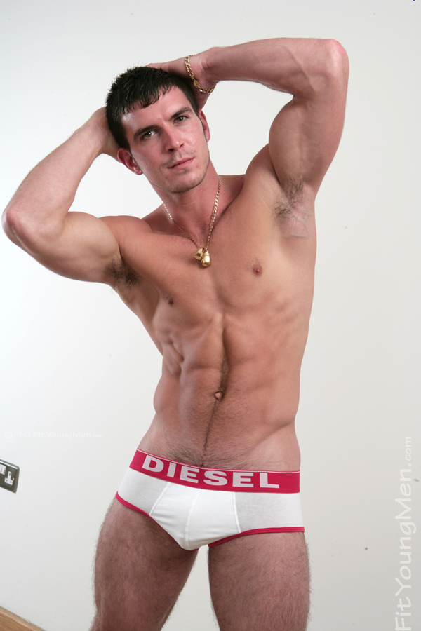 Fit Young Men Model Patrick O'Brian Naked Boxer
