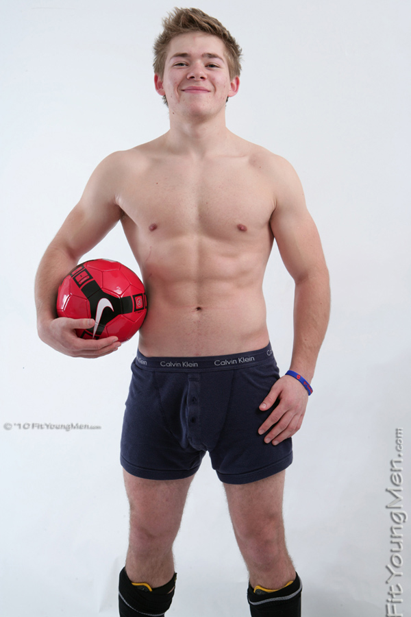 Fit Young Men Model Max North Naked Footballer
