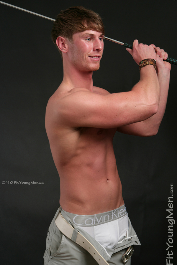 Fit Young Men Model Michael Jenkins Naked Golf Professional