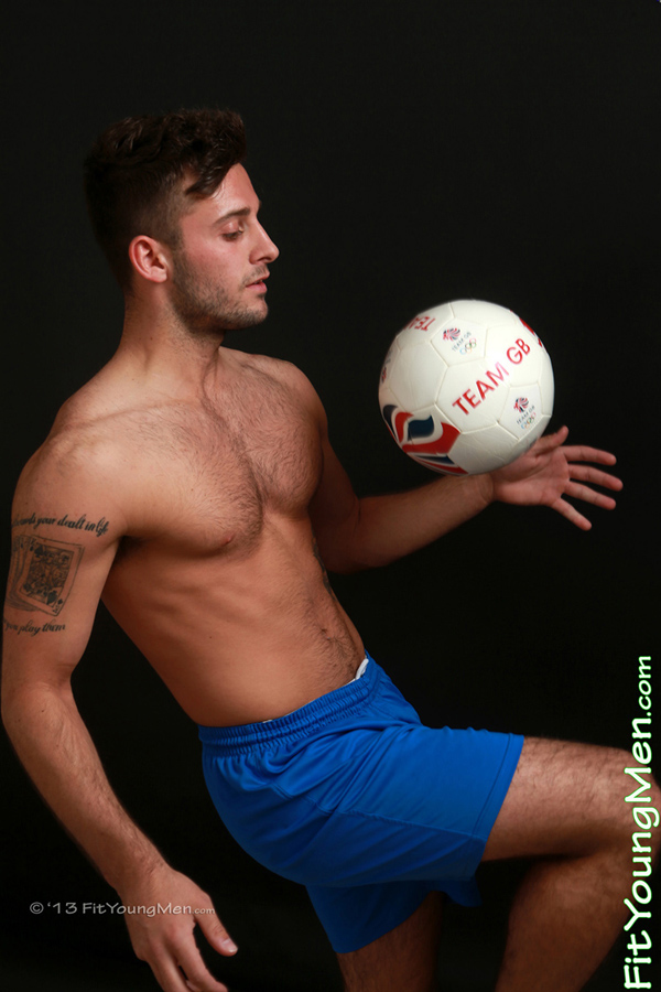 Fit Young Men Model Matt Clarke Naked Footballer