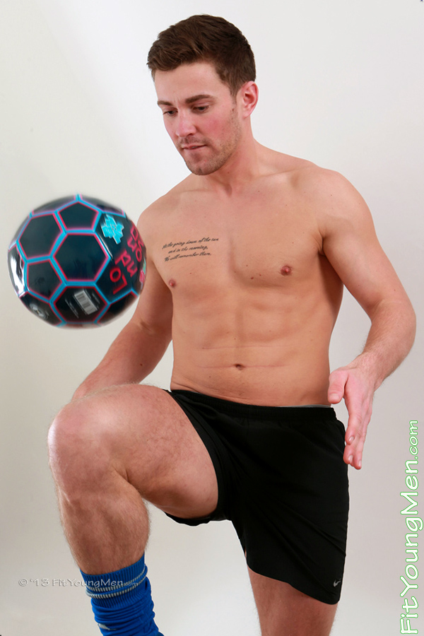 Fit Young Men Model Michael Milne Naked Footballer