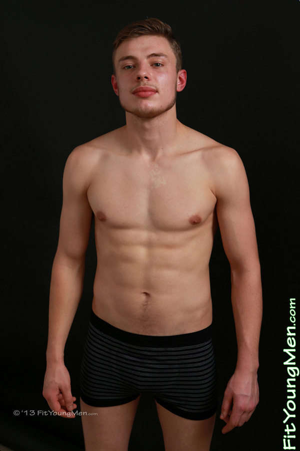 Fit Young Men Model Paddy James Naked Boxer