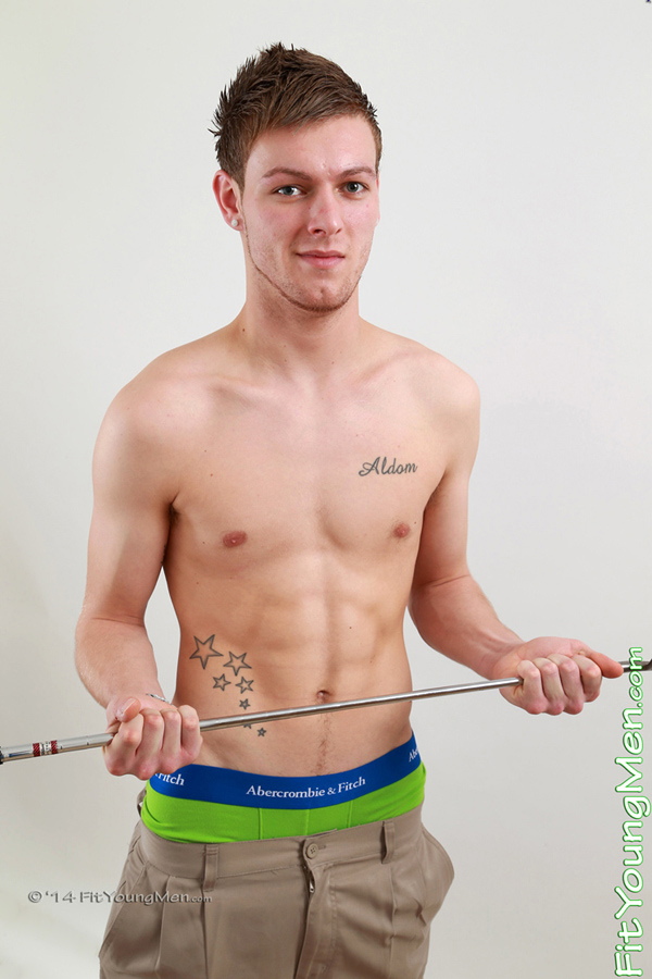 Fit Young Men Model James Henderson Naked Golf Professional