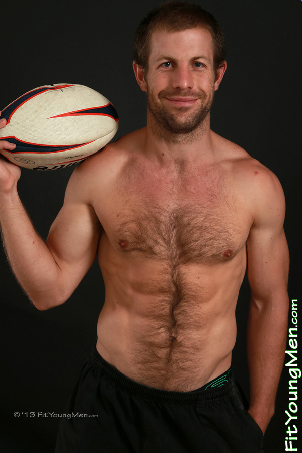 Fit Young Men Model James Cranford Naked Rugby Player