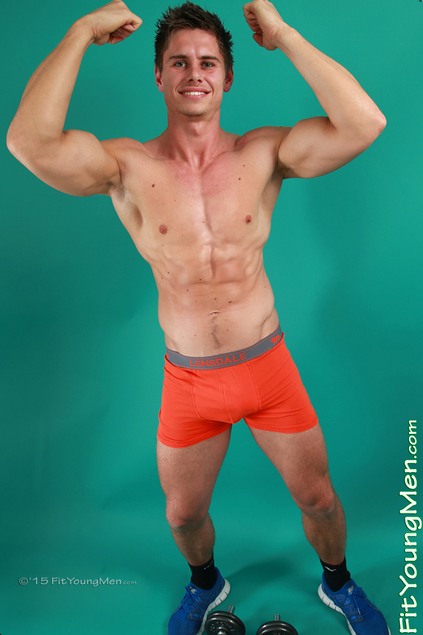 Fit Young Men Model Ben Ritchie Naked Personal Trainer