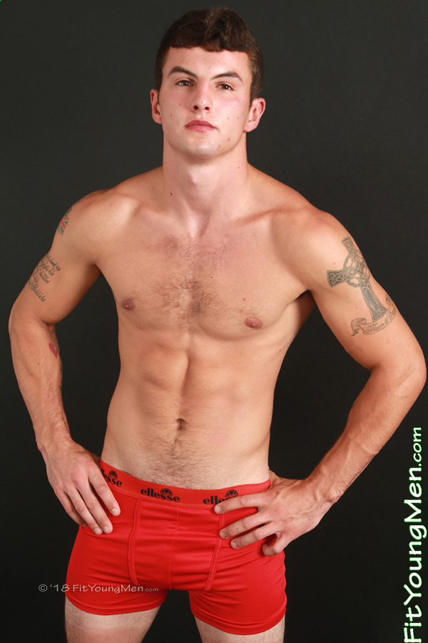 Fit Young Men Model Jace Summers Naked Boxer